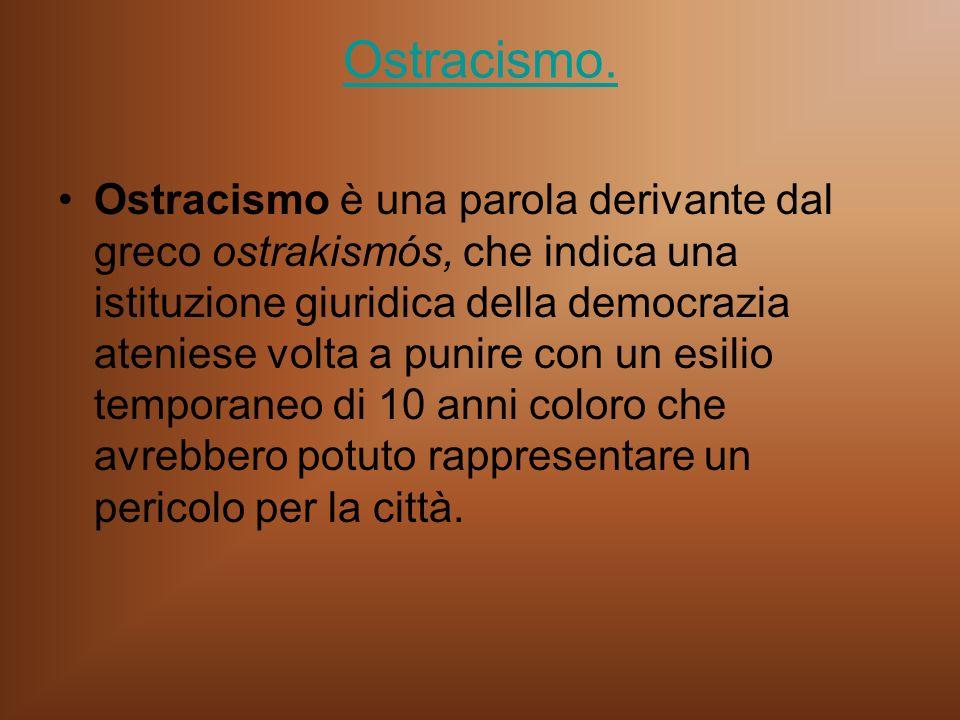 Ostracismo.