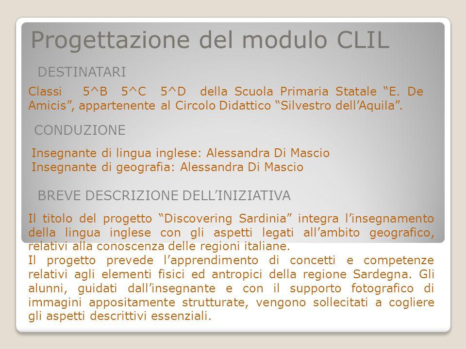 Progettazione del modulo CLIL