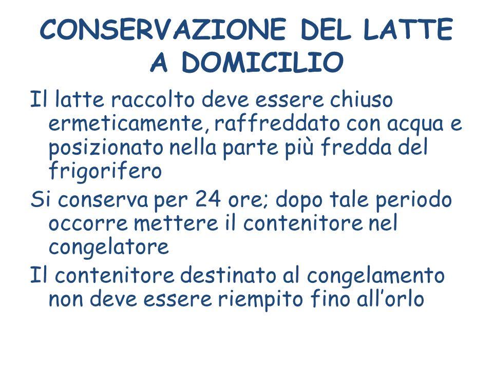CONSERVAZIONE DEL LATTE A DOMICILIO