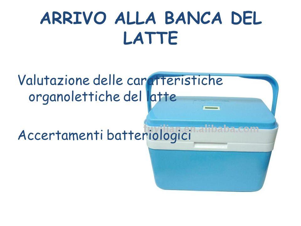 ARRIVO ALLA BANCA DEL LATTE