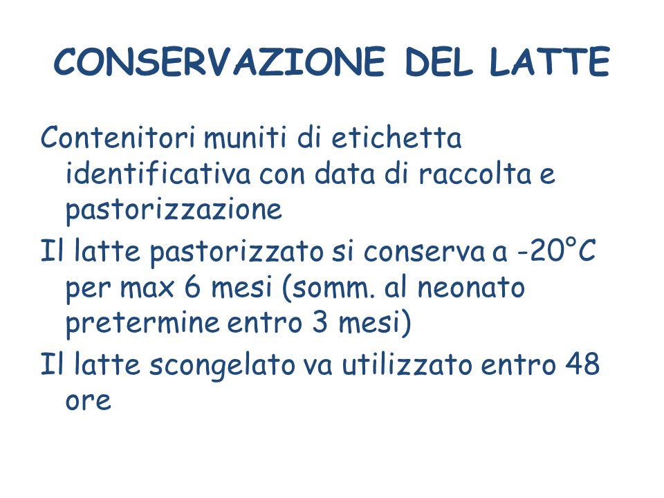 CONSERVAZIONE DEL LATTE