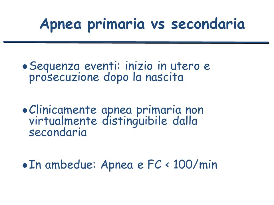 Apnea primaria vs secondaria