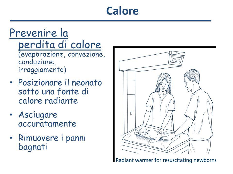 Calore Prevenire la perdita di calore (evaporazione, convezione, conduzione, irraggiamento)