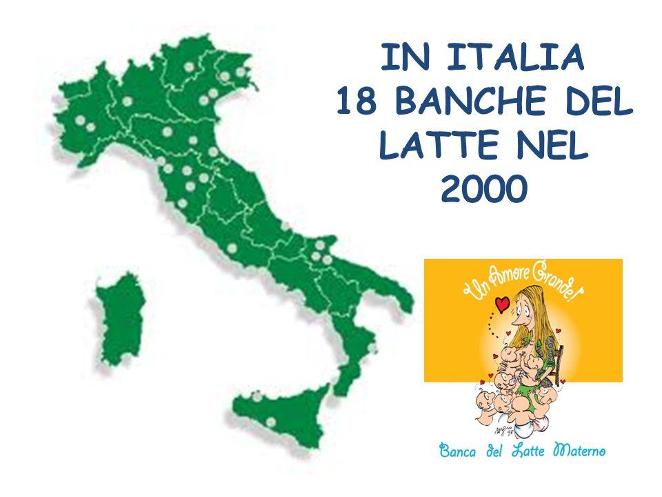IN ITALIA 18 BANCHE DEL LATTE NEL 2000