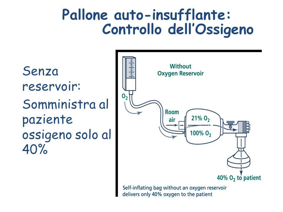Pallone auto-insufflante: Controllo dell'Ossigeno