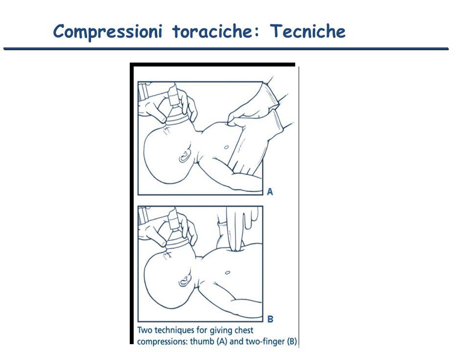 Compressioni toraciche: Tecniche