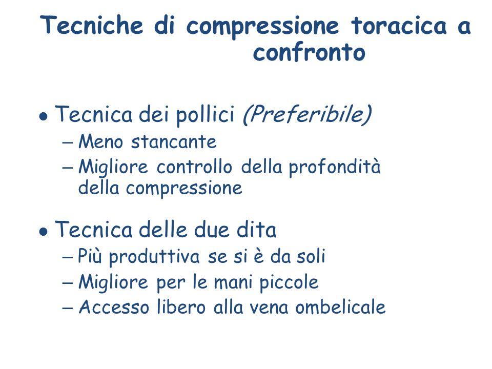 Tecniche di compressione toracica a confronto