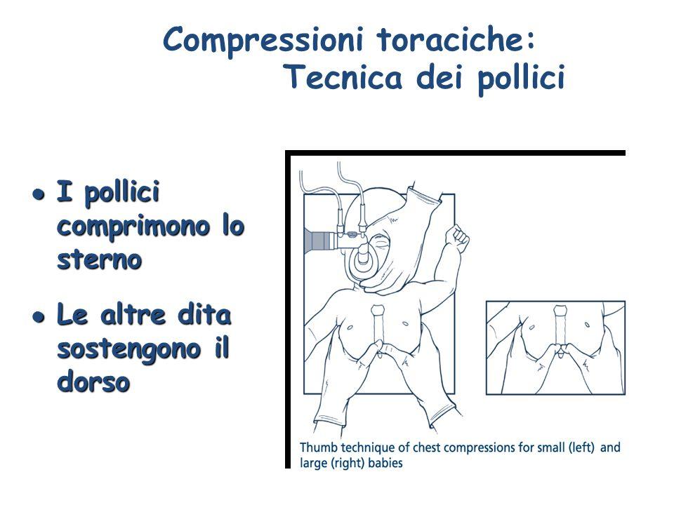 Compressioni toraciche: Tecnica dei pollici