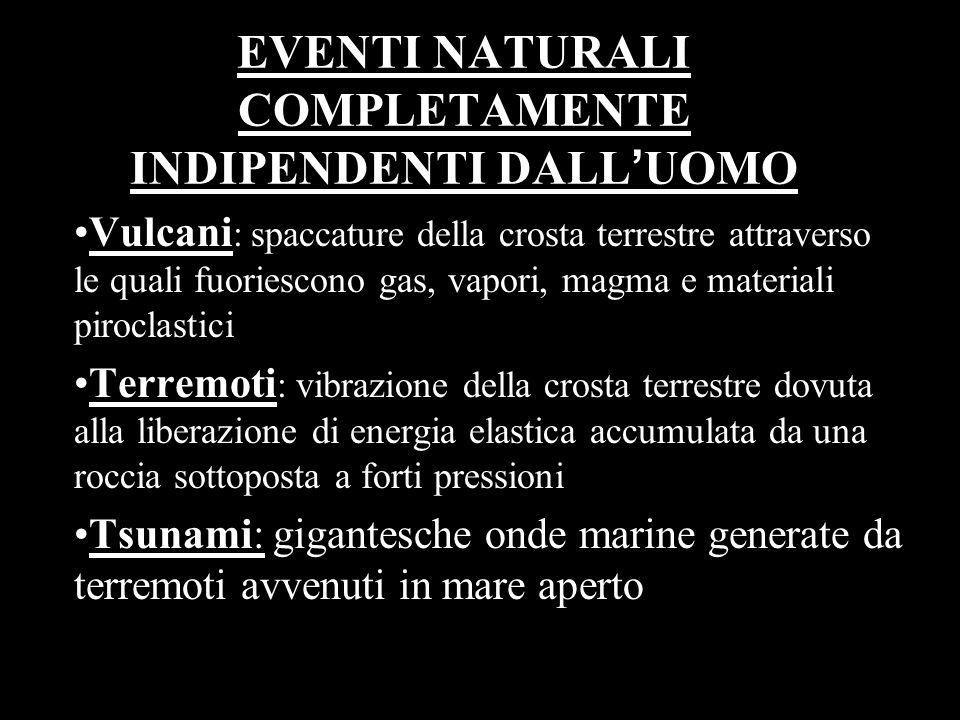 EVENTI NATURALI COMPLETAMENTE INDIPENDENTI DALL'UOMO