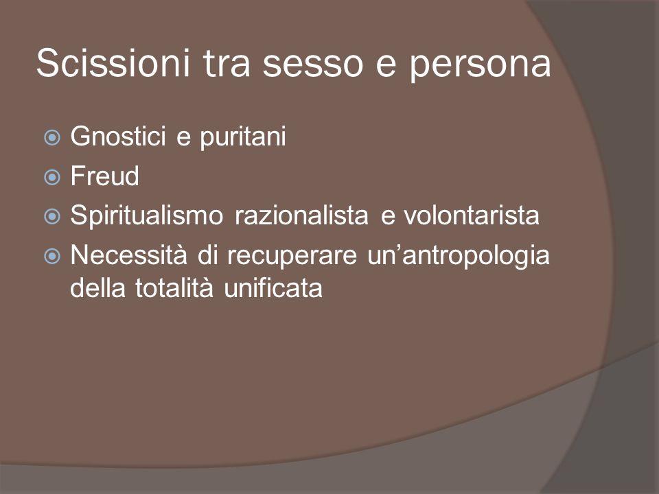 Scissioni tra sesso e persona