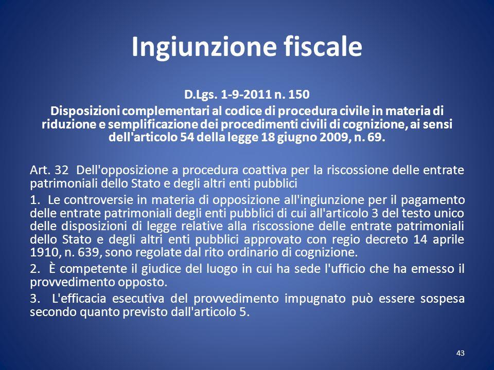 Ingiunzione fiscale