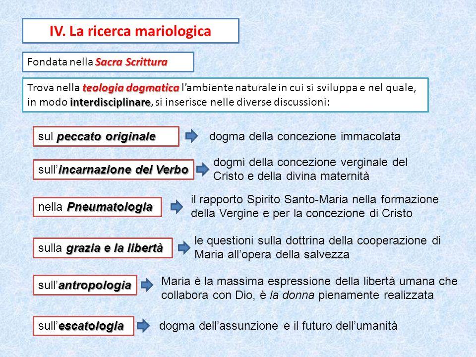 IV. La ricerca mariologica