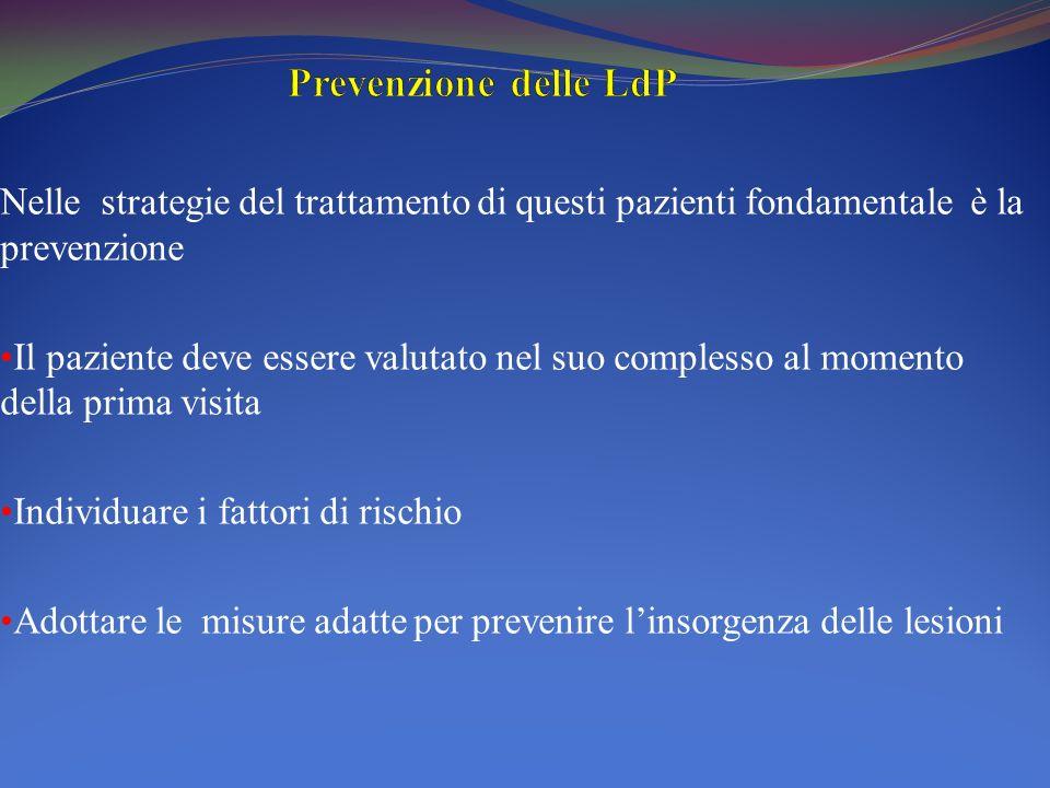 Prevenzione delle LdP Nelle strategie del trattamento di questi pazienti fondamentale è la prevenzione.