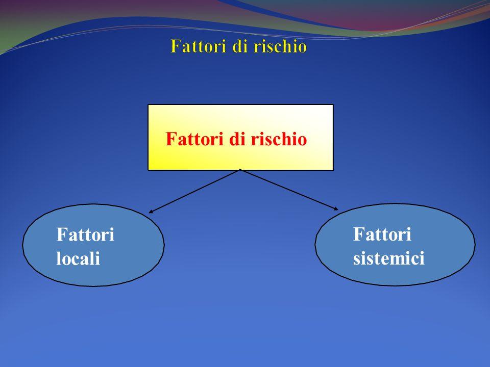 Fattori di rischio Fattori di rischio Fattori locali Fattori sistemici