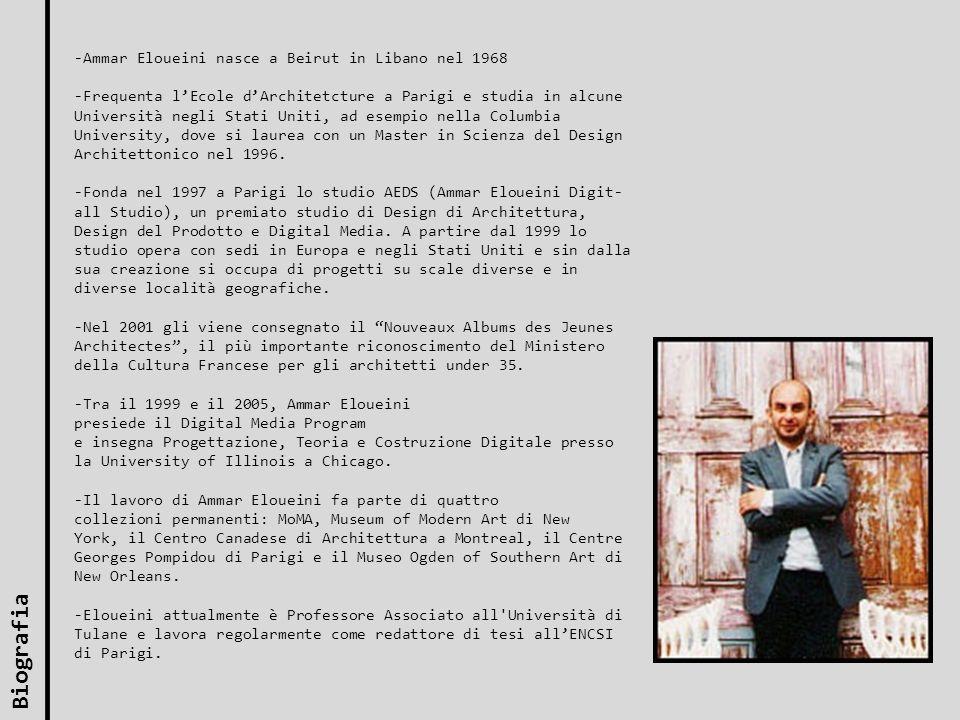 Biografia -Ammar Eloueini nasce a Beirut in Libano nel 1968