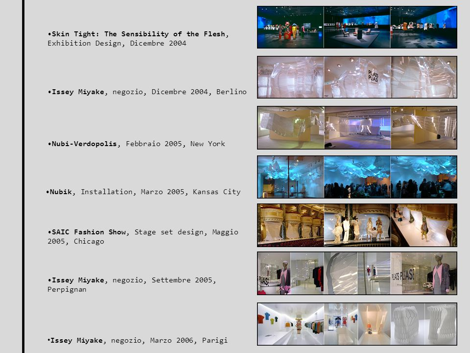 Skin Tight: The Sensibility of the Flesh, Exhibition Design, Dicembre 2004