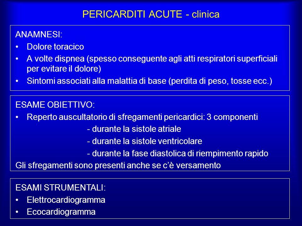 PERICARDITI ACUTE - clinica