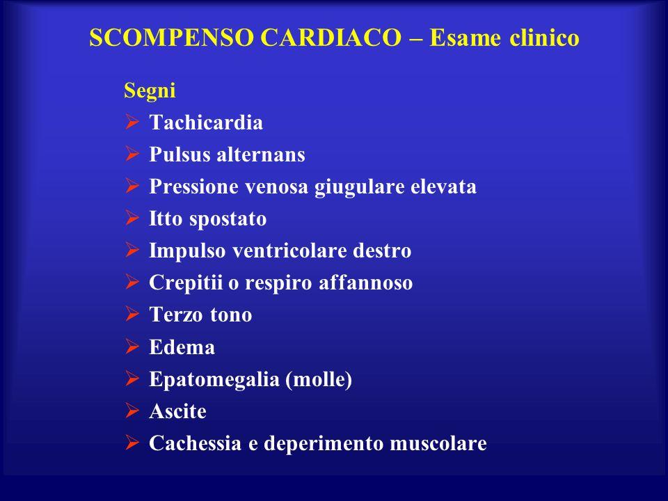 SCOMPENSO CARDIACO – Esame clinico