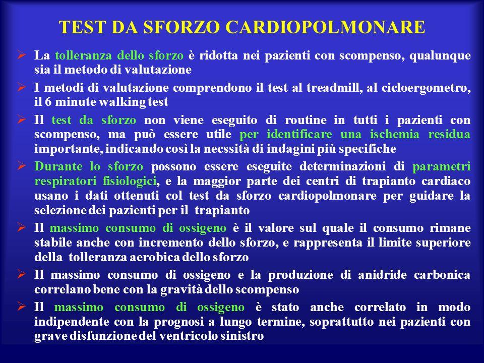 TEST DA SFORZO CARDIOPOLMONARE