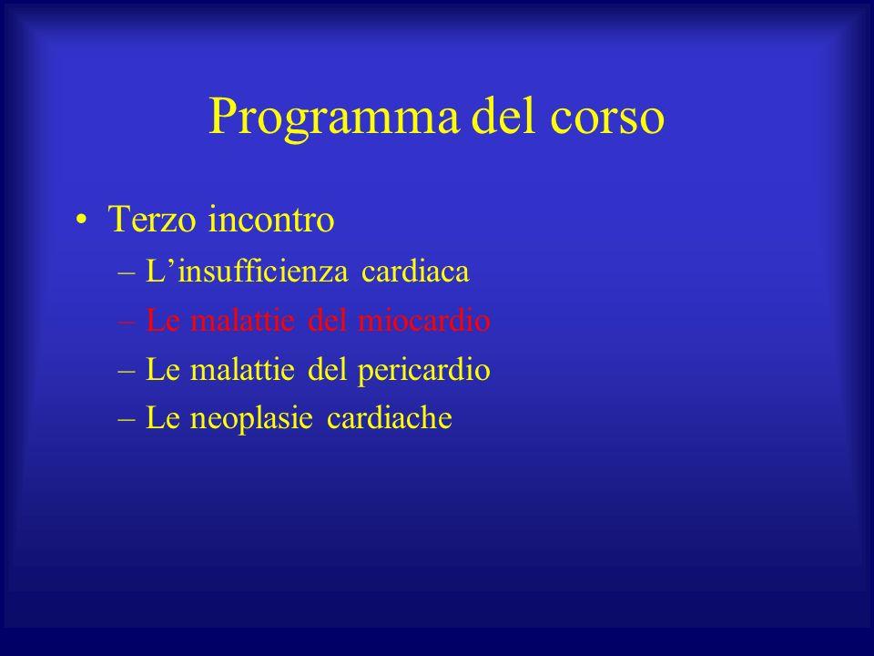 Programma del corso Terzo incontro L'insufficienza cardiaca