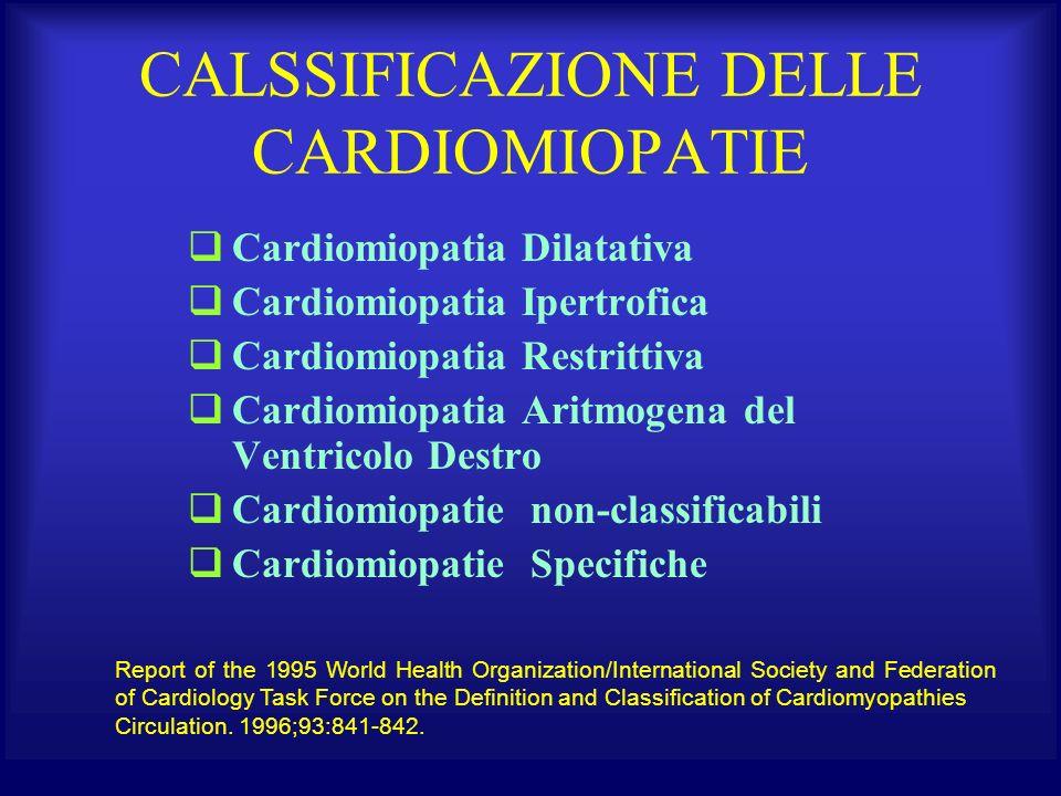 CALSSIFICAZIONE DELLE CARDIOMIOPATIE