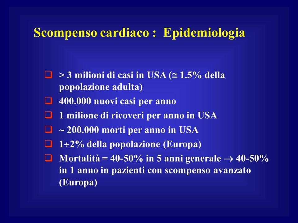 Scompenso cardiaco : Epidemiologia