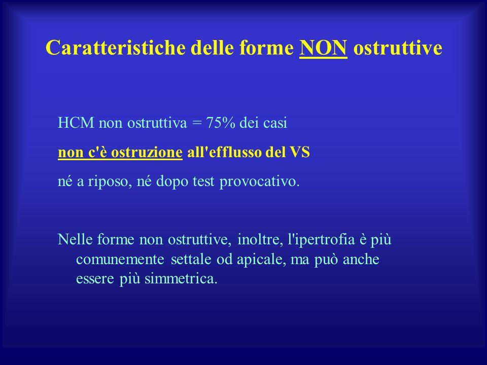 Caratteristiche delle forme NON ostruttive
