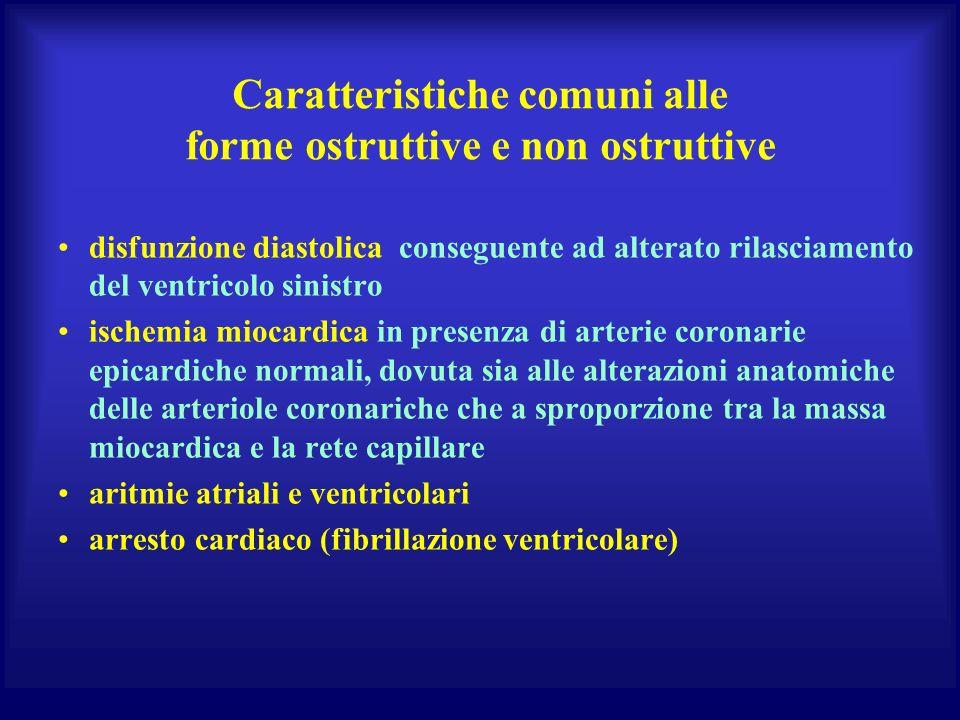 Caratteristiche comuni alle forme ostruttive e non ostruttive