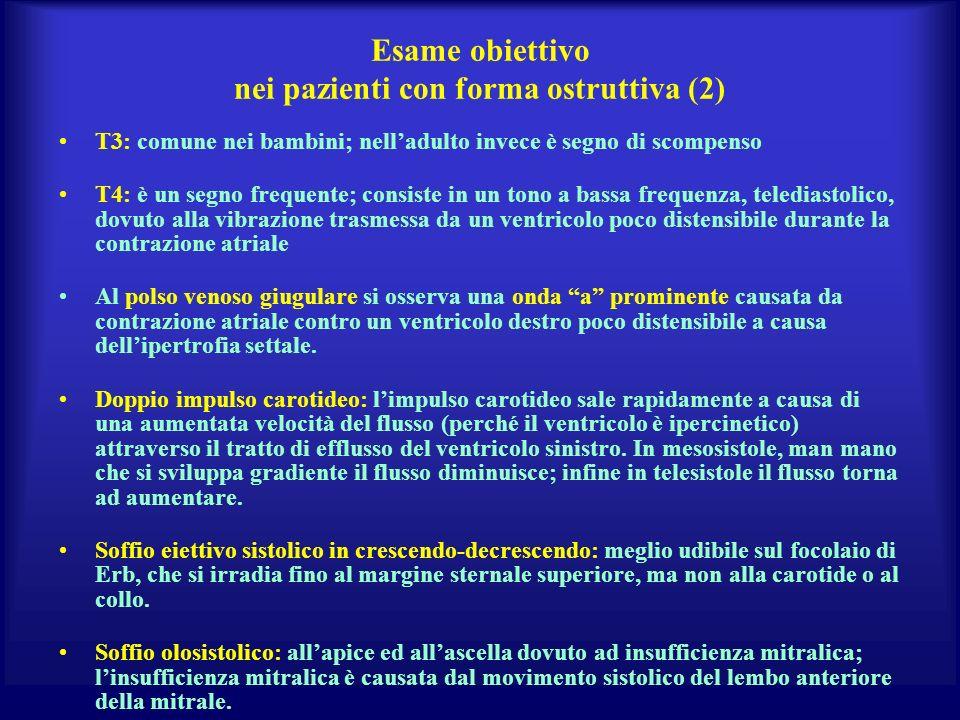 Esame obiettivo nei pazienti con forma ostruttiva (2)