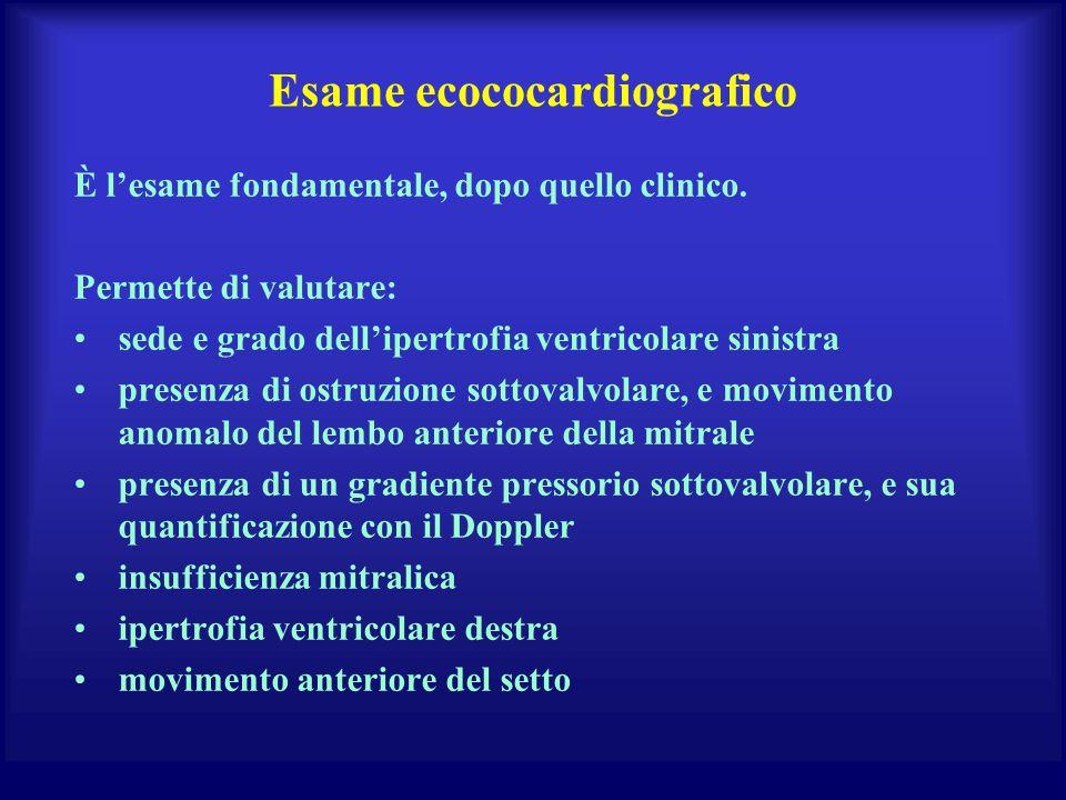 Esame ecococardiografico