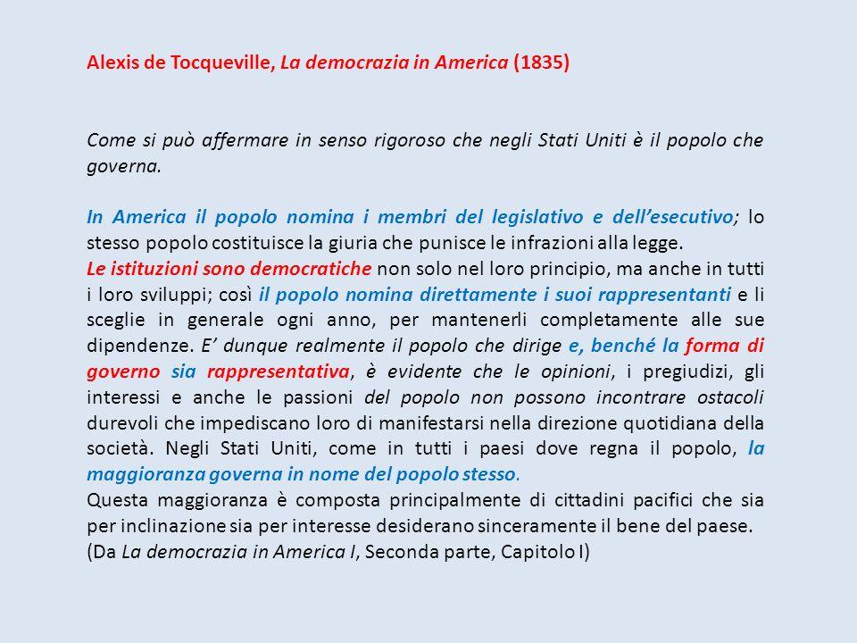 Alexis de Tocqueville, La democrazia in America (1835)