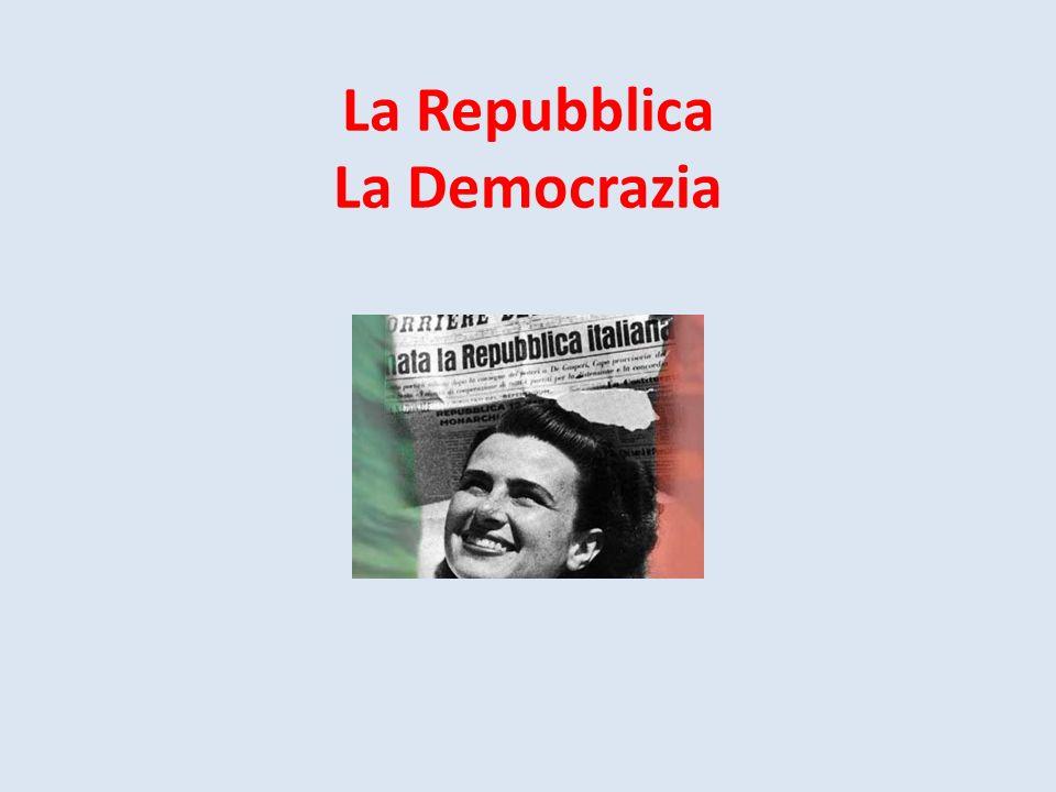 La Repubblica La Democrazia