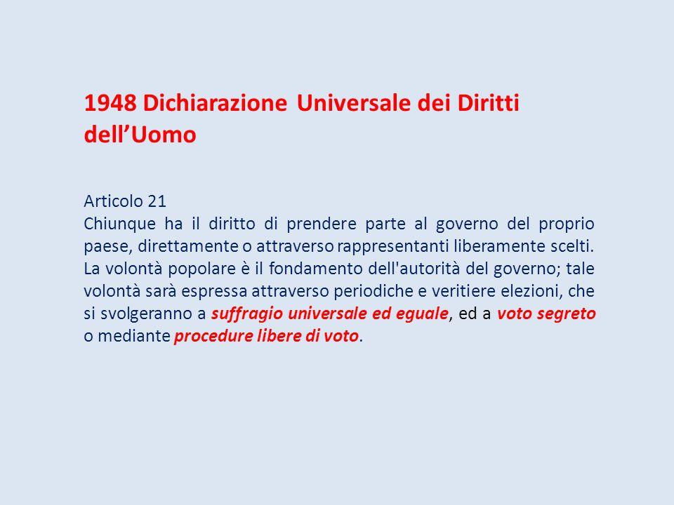1948 Dichiarazione Universale dei Diritti dell'Uomo