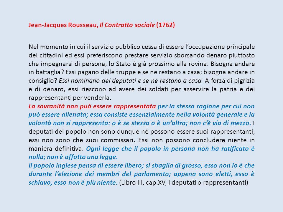 Jean-Jacques Rousseau, Il Contratto sociale (1762)