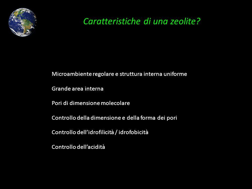 Caratteristiche di una zeolite