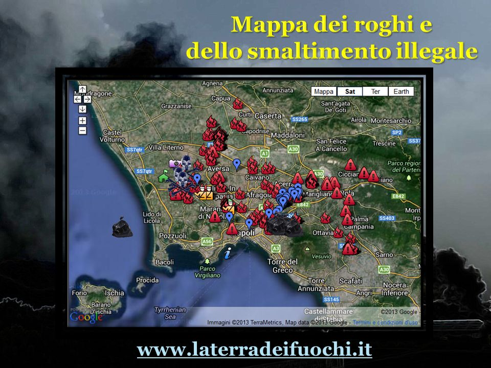 Mappa dei roghi e dello smaltimento illegale