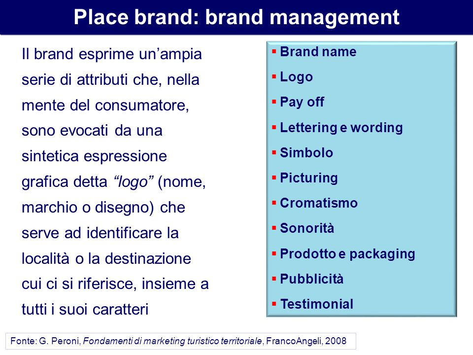 Place brand: brand management