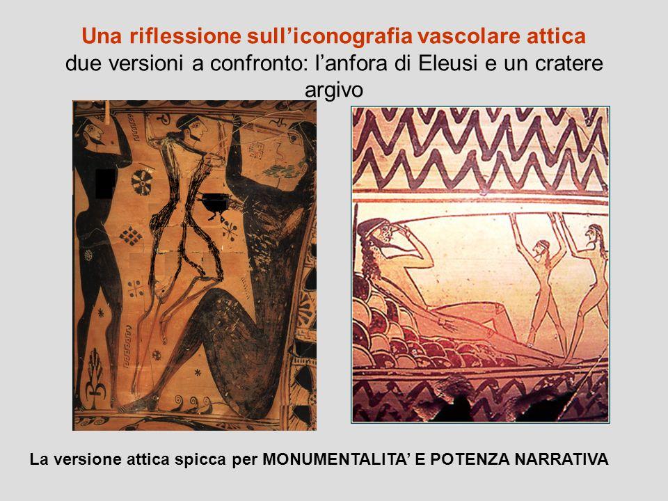 Una riflessione sull'iconografia vascolare attica due versioni a confronto: l'anfora di Eleusi e un cratere argivo