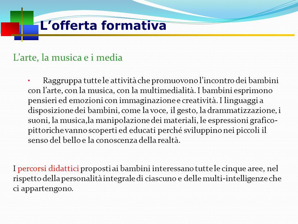 L'offerta formativa L'arte, la musica e i media