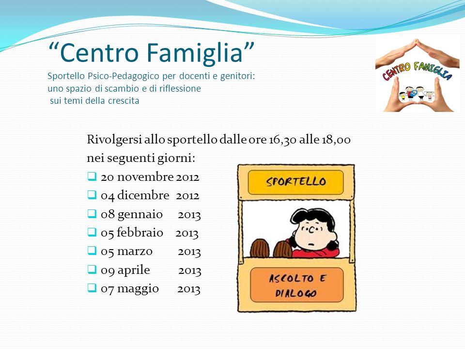 Centro Famiglia Sportello Psico-Pedagogico per docenti e genitori: uno spazio di scambio e di riflessione sui temi della crescita