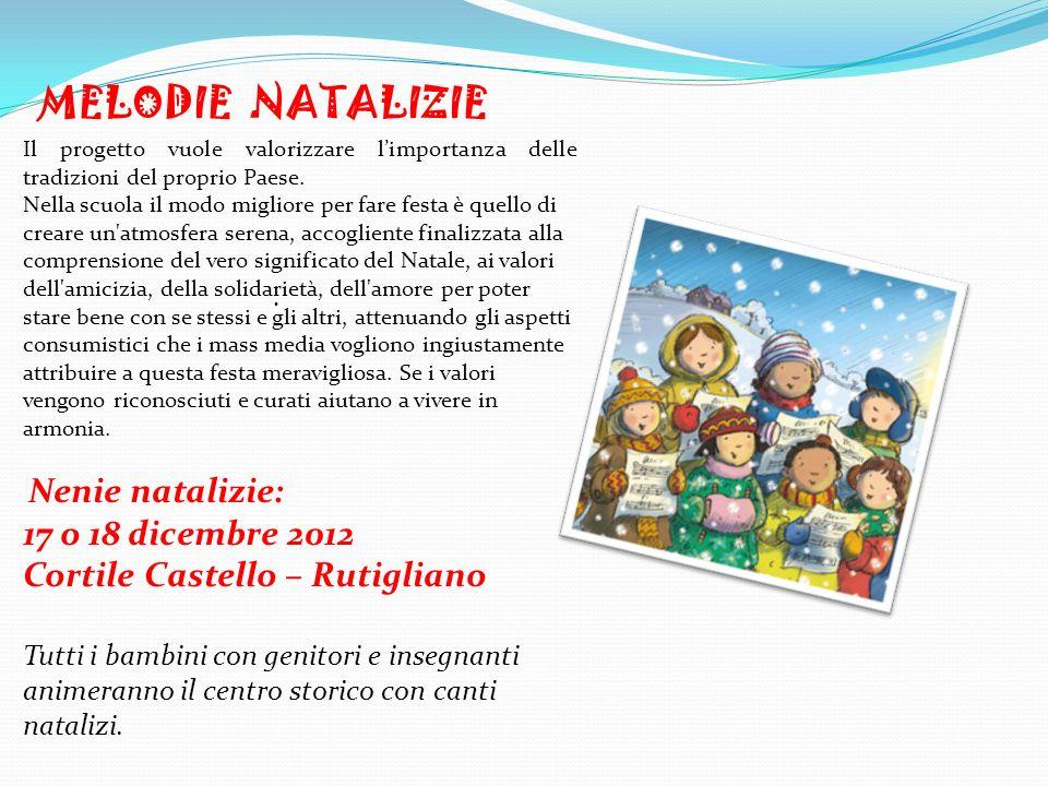MELODIE NATALIZIE 17 o 18 dicembre 2012 Cortile Castello – Rutigliano