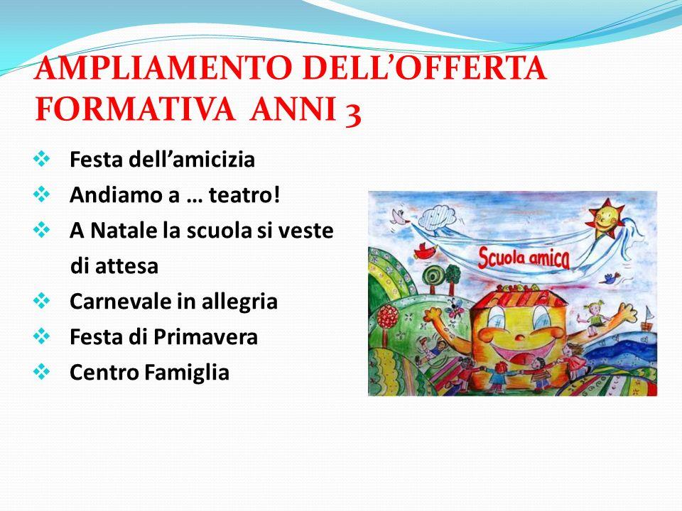 AMPLIAMENTO DELL'OFFERTA FORMATIVA ANNI 3