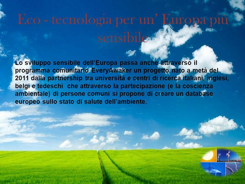 Eco - tecnologia per un' Europa più sensibile