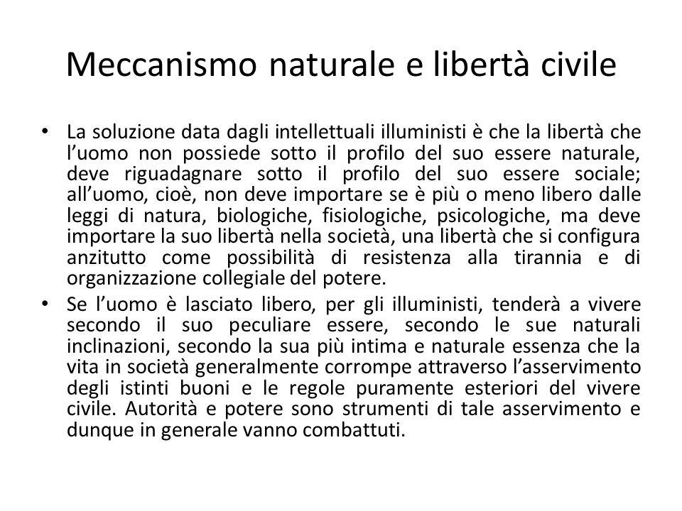 Meccanismo naturale e libertà civile