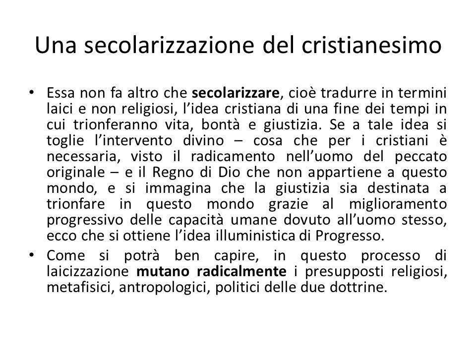 Una secolarizzazione del cristianesimo