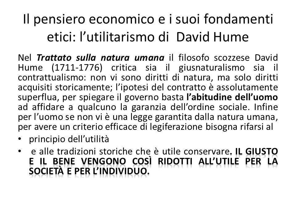 Il pensiero economico e i suoi fondamenti etici: l'utilitarismo di David Hume