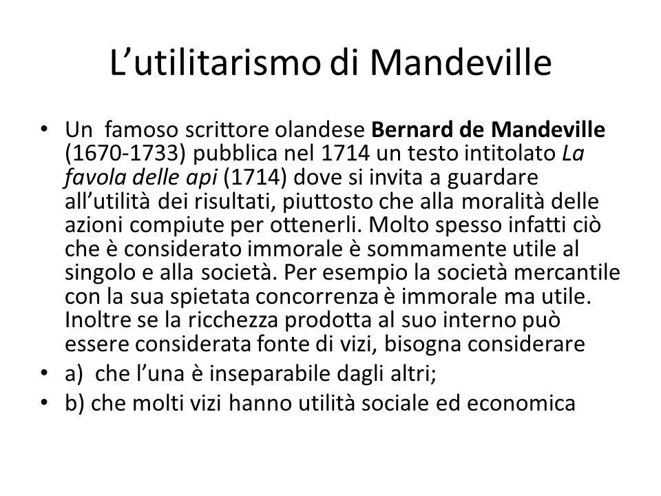 L'utilitarismo di Mandeville