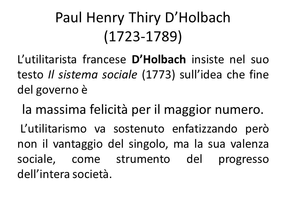 Paul Henry Thiry D'Holbach (1723-1789)