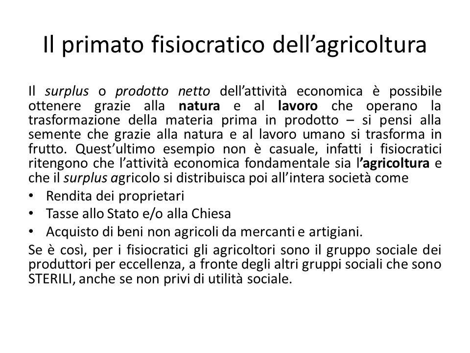 Il primato fisiocratico dell'agricoltura