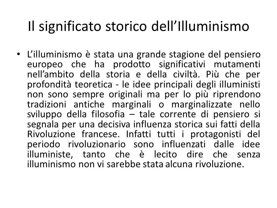 Il significato storico dell'Illuminismo